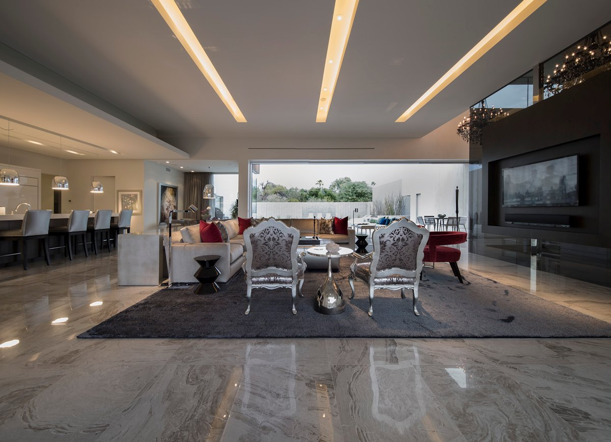 Exceptionnel Marble Tiles, Rug, Living Space, Mid Century Modern Home In Scottsdale,  Arizona