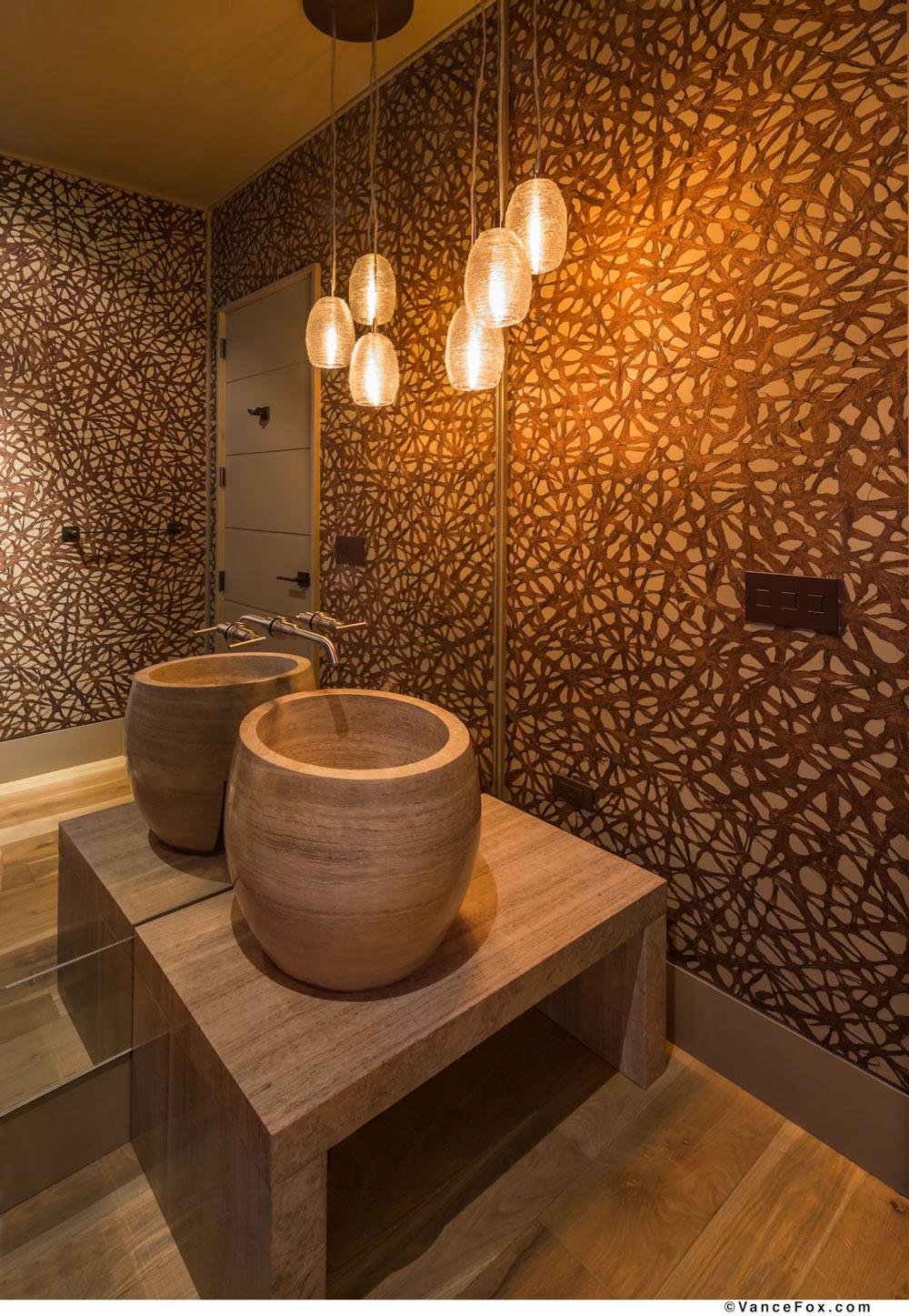 Modern Sink, Pendant Lights, Bathroom, Home near Lake Tahoe, California