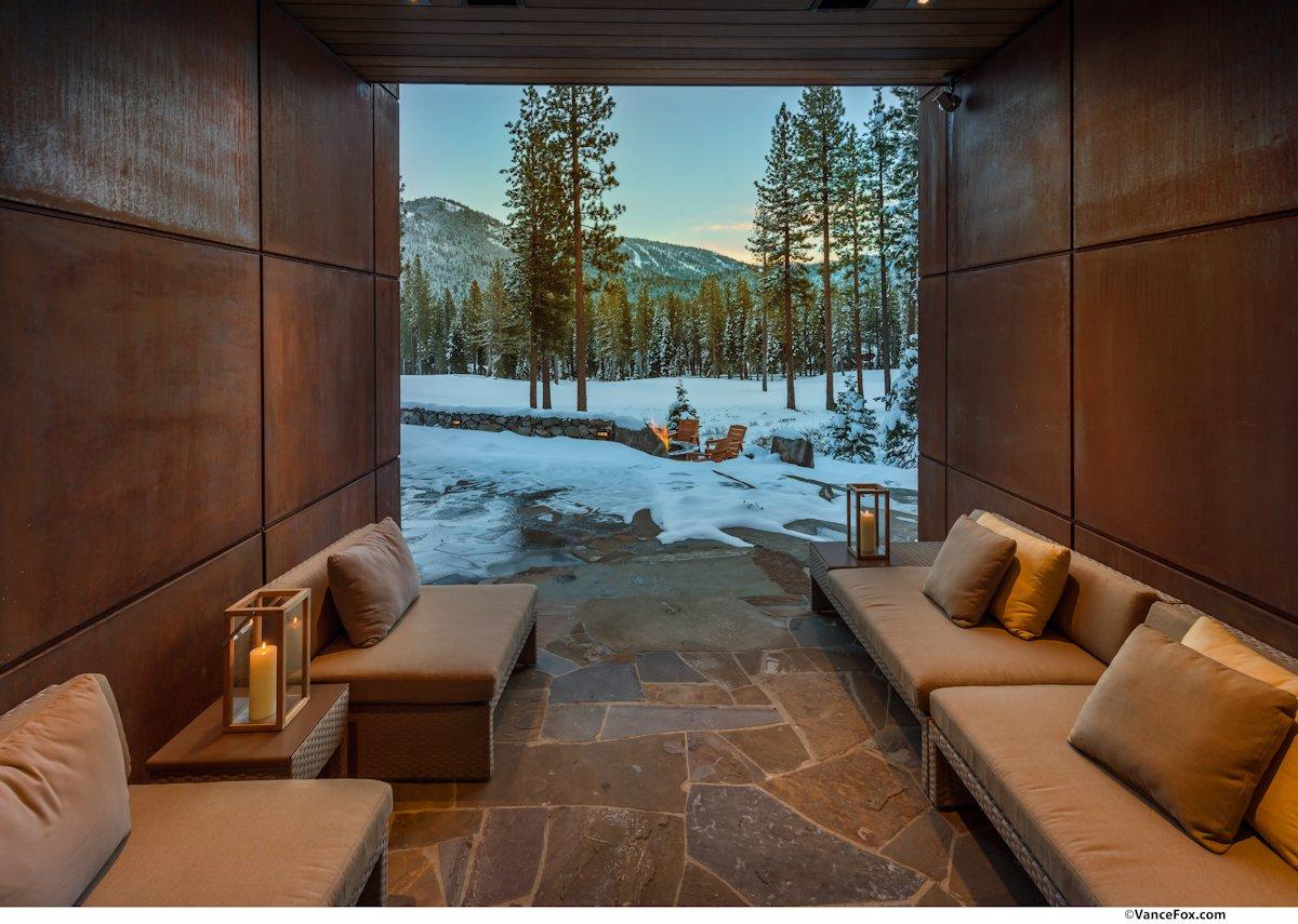 Natural Stone Floor, Seating, Home near Lake Tahoe, California
