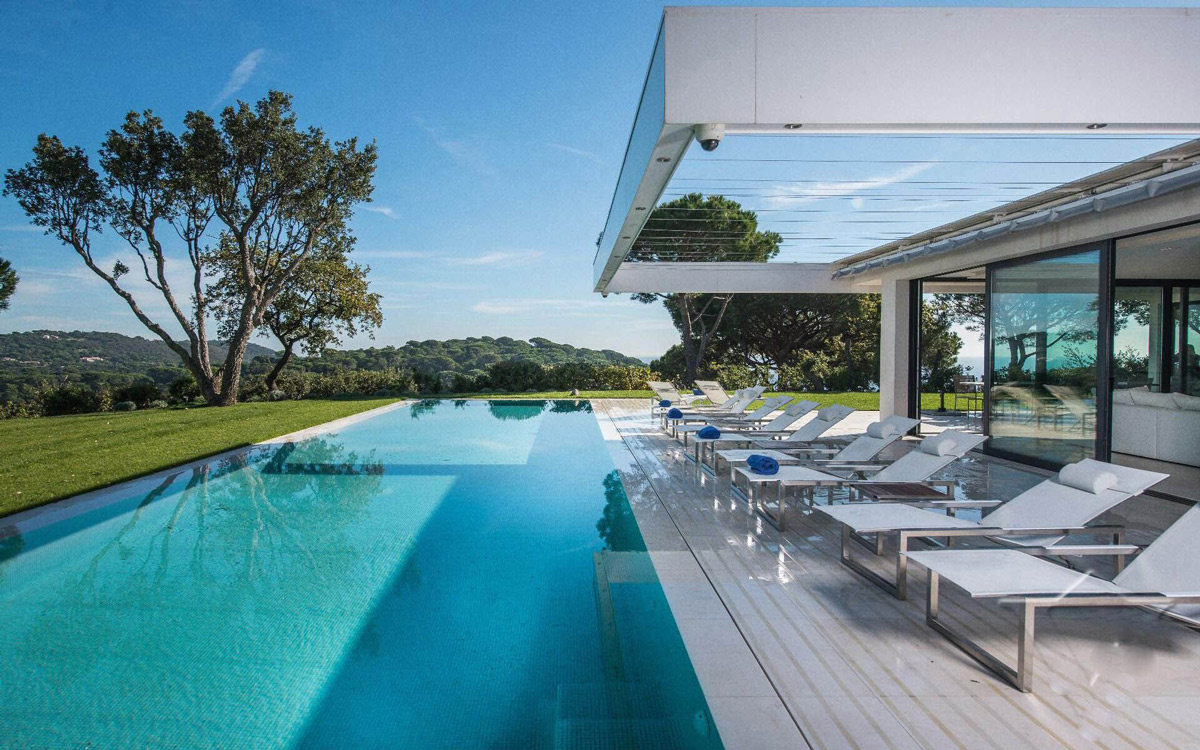 Pool, Terrace, Veranda, Luxury Holiday Villa in Saint-Tropez, France
