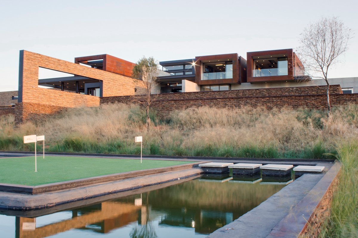 Putting Green, Water Feature, Stepping Stones, Luxurious Modern Residence in Pretoria, South Africa