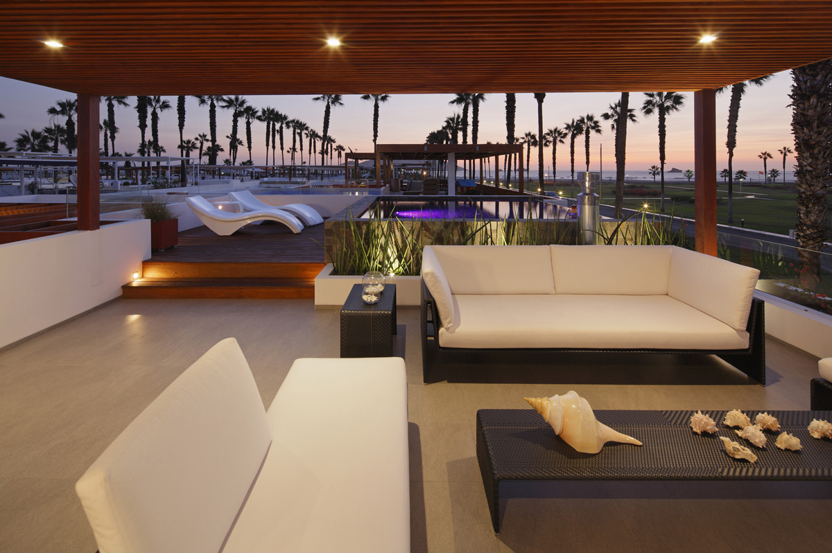 Roof Terrace, Outdoor Furniture, Luxury Modern Home in Lima, Peru