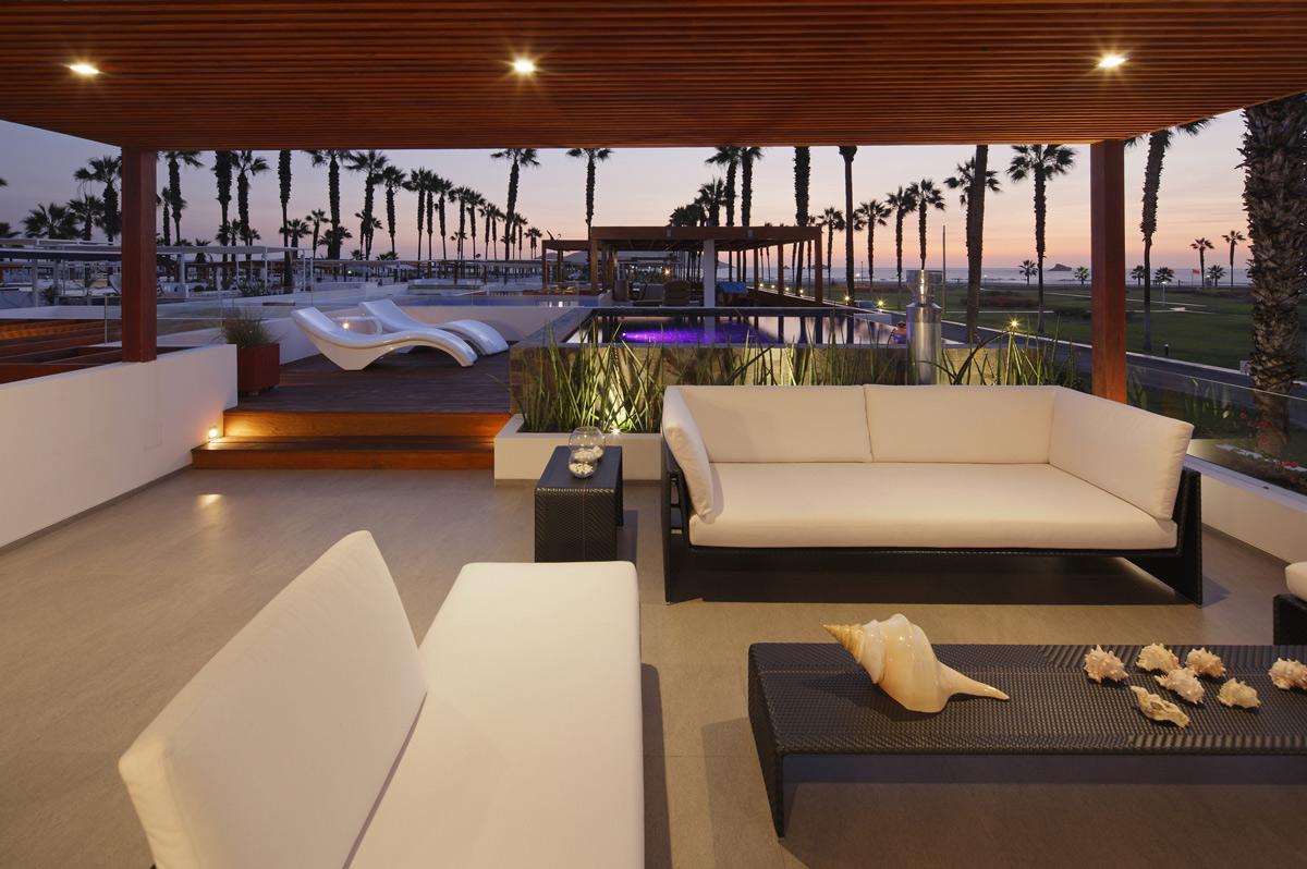 Roof Terrace, Outdoor Furniture, Luxury Modern Home in Lima, Peru