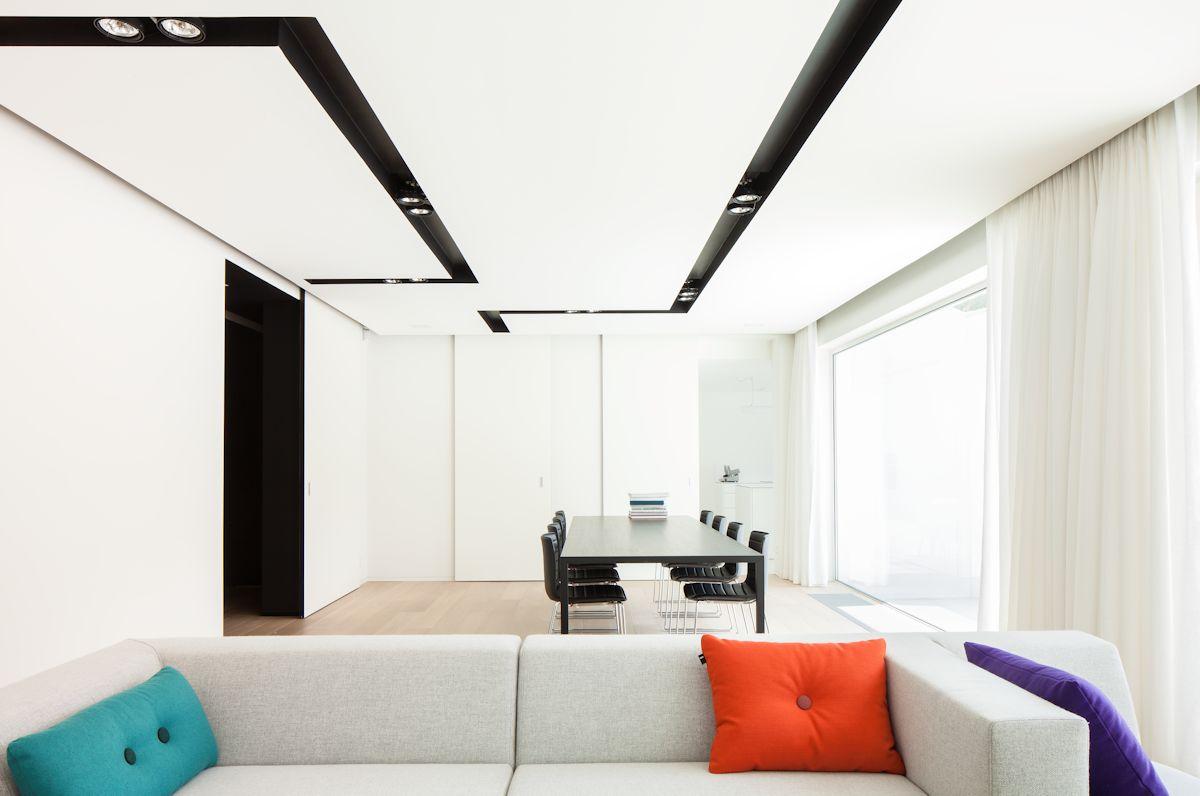 Sofa, Dining, Open Plan Living, Contemporary Renovation Brussels Belgium