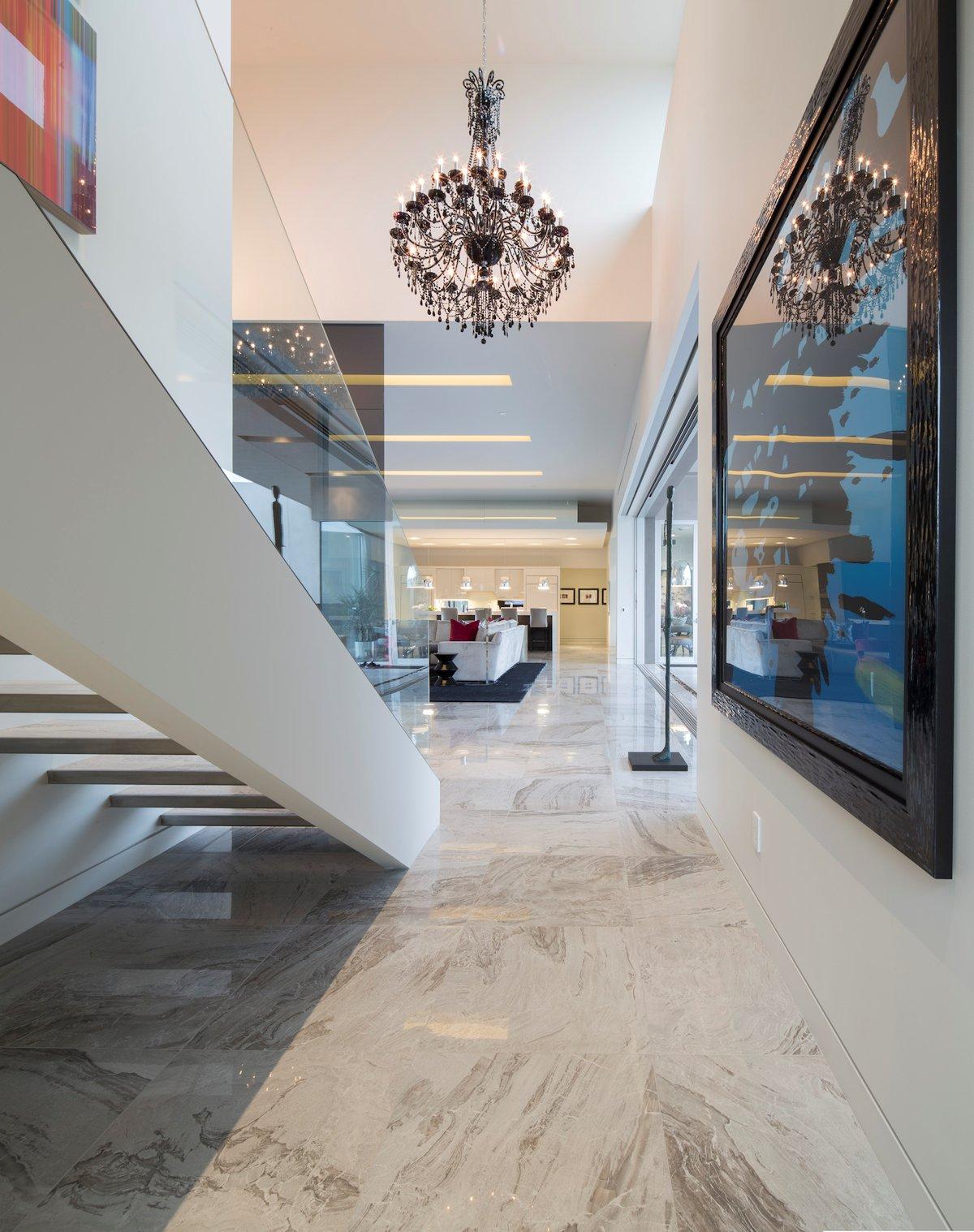 Stairs, Art, Chandeliers, Mid-Century Modern Home in Scottsdale, Arizona