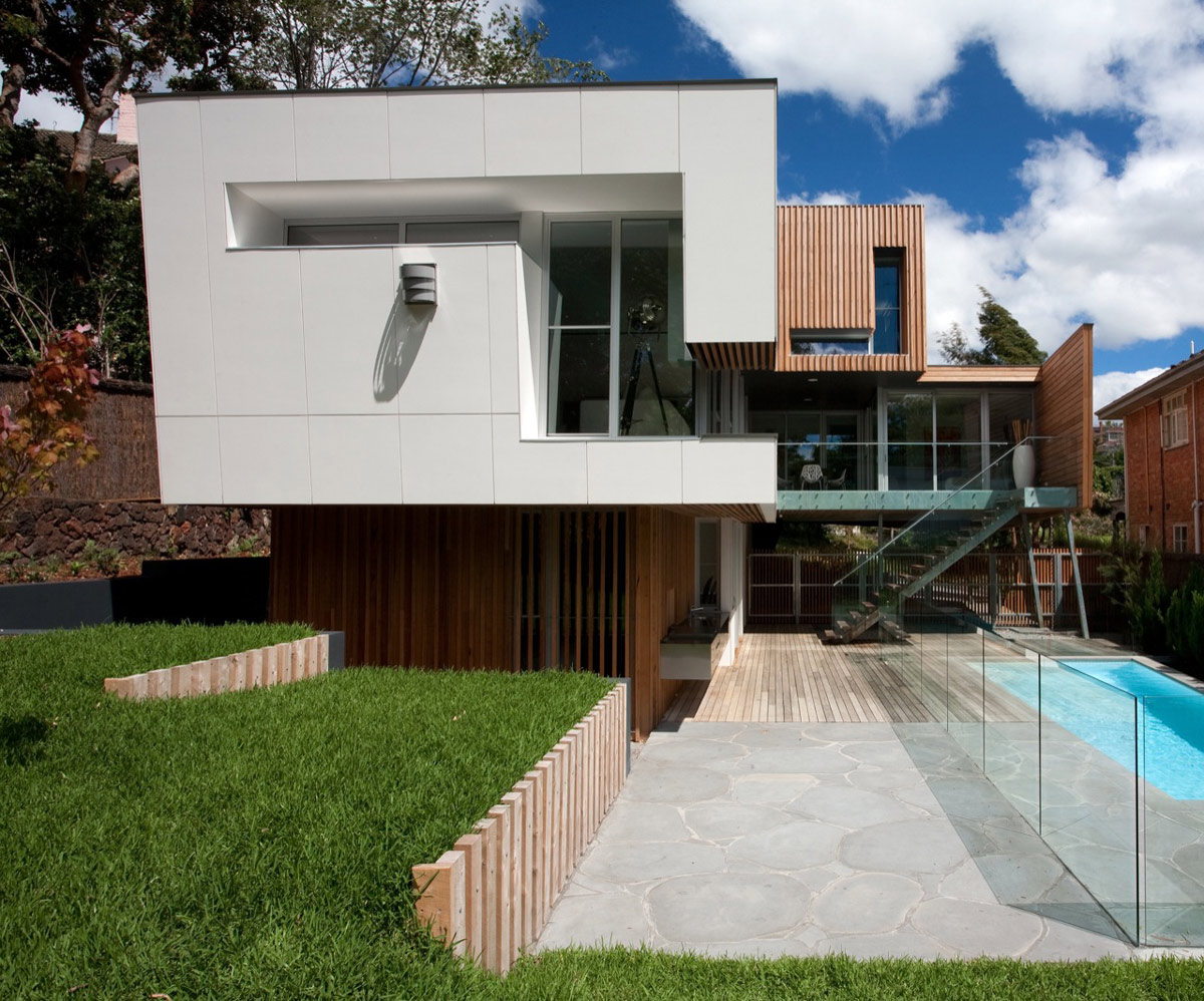 Stereo Facade, Kew House in Melbourne