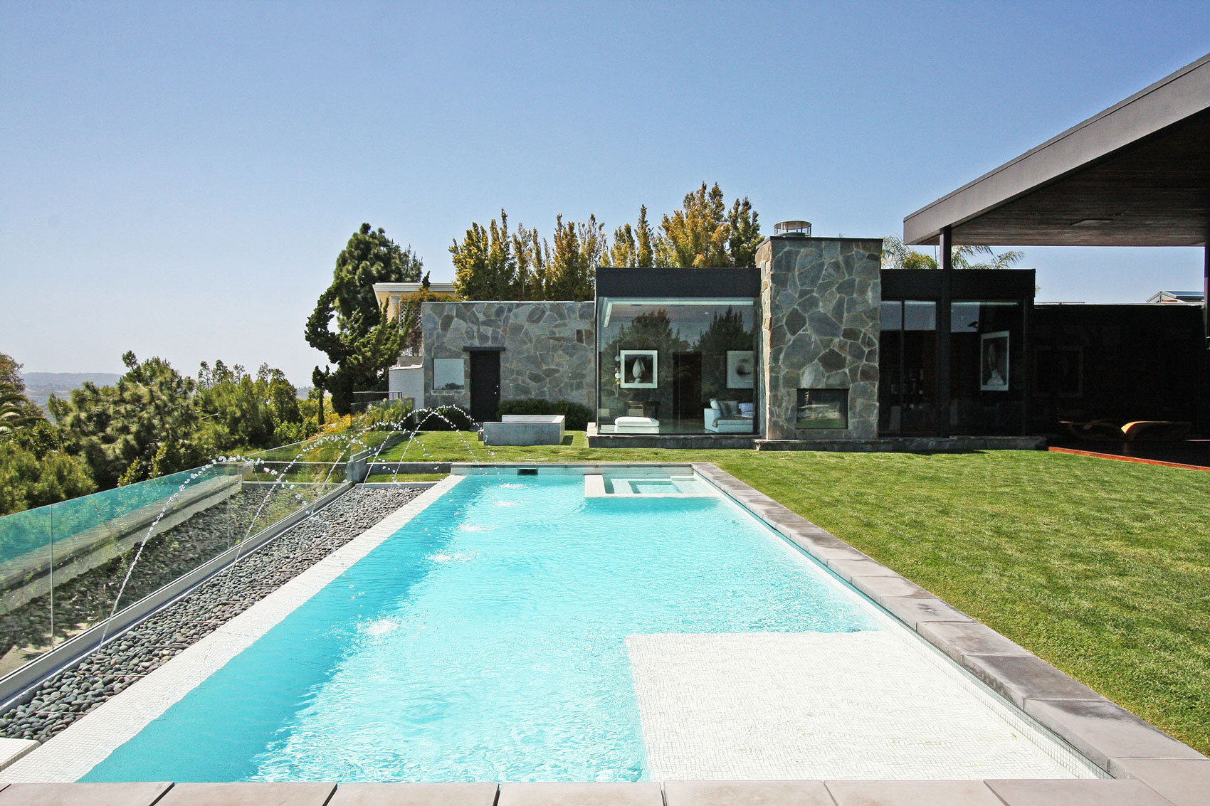 Swimming Pool, Fountains, Lawn, Revamped Interior in Beverly Hills