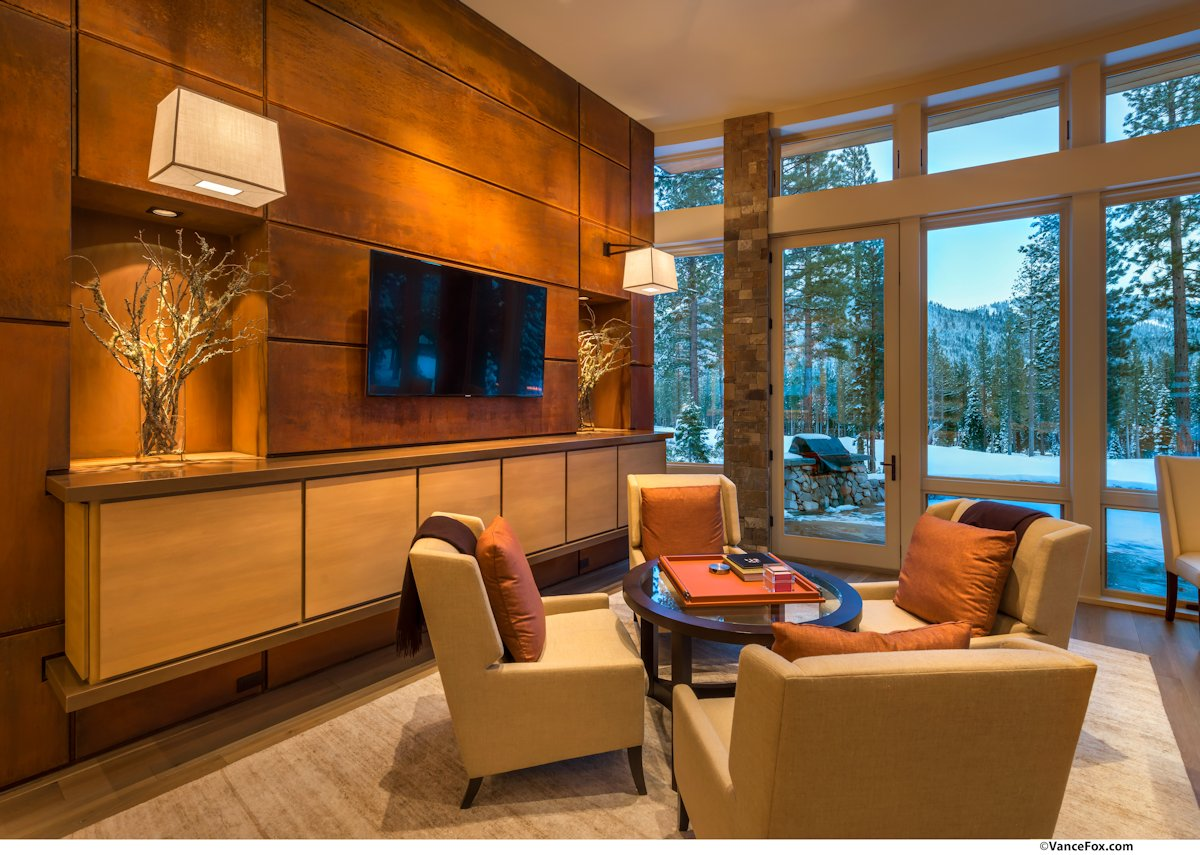 Table, Chairs, Entertainment Room, Home near Lake Tahoe, California