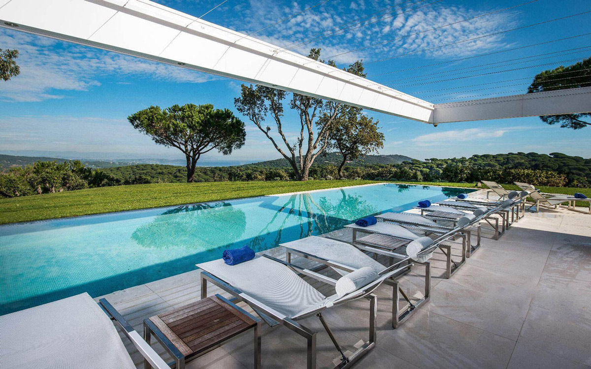 Terrace, Pool, Views, Luxury Holiday Villa in Saint-Tropez, France