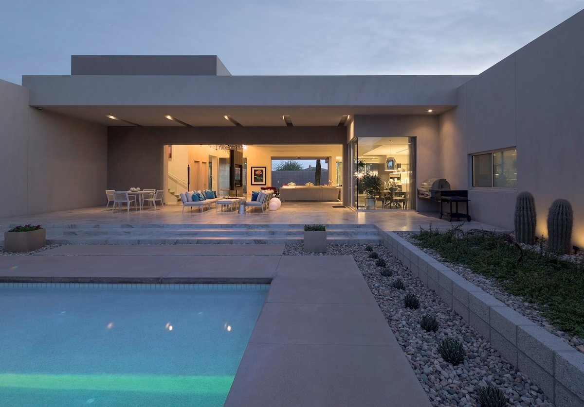 Terraces, Outdoor Pool, Mid-Century Modern Home in Scottsdale, Arizona