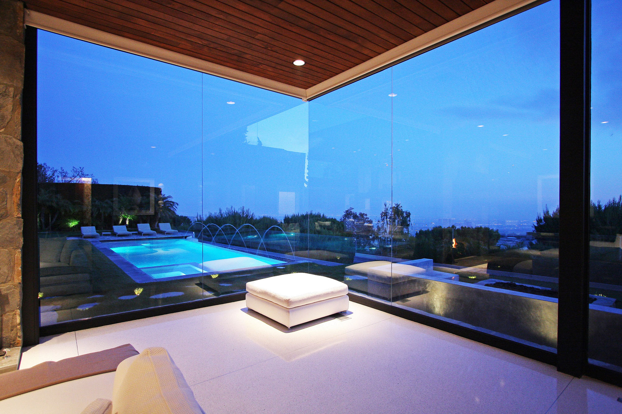 View from Bedroom, Revamped Interior in Beverly Hills
