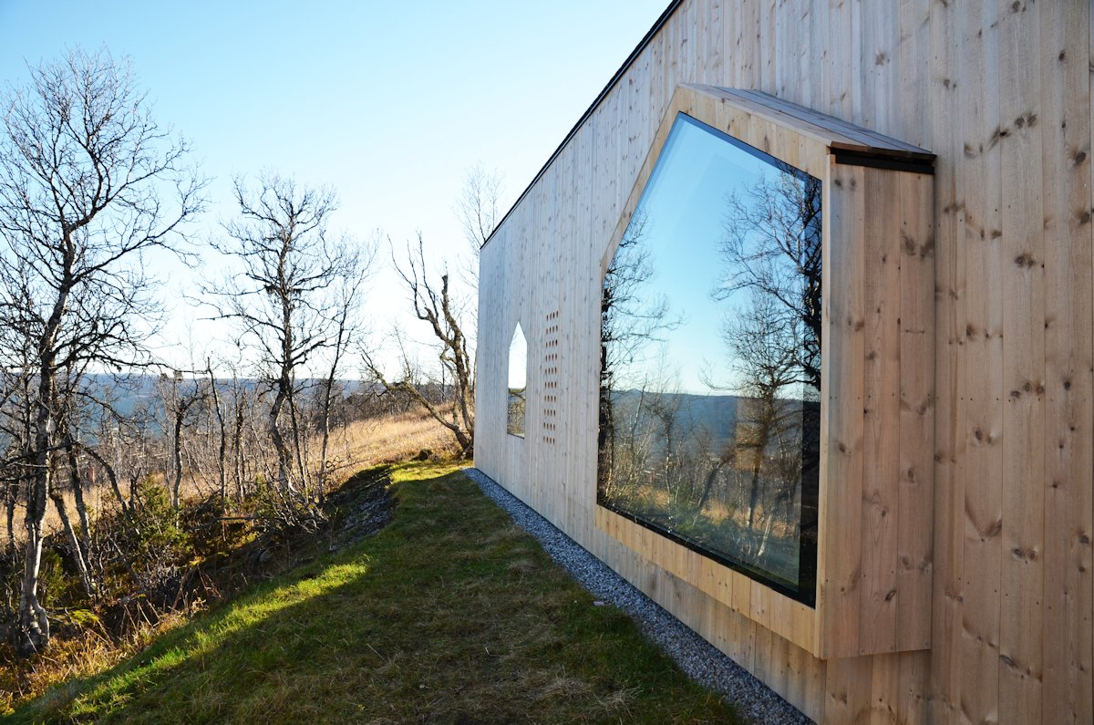 Window, Wood Cladding, Garden, Holiday Lodge in Havsdalen, Norway