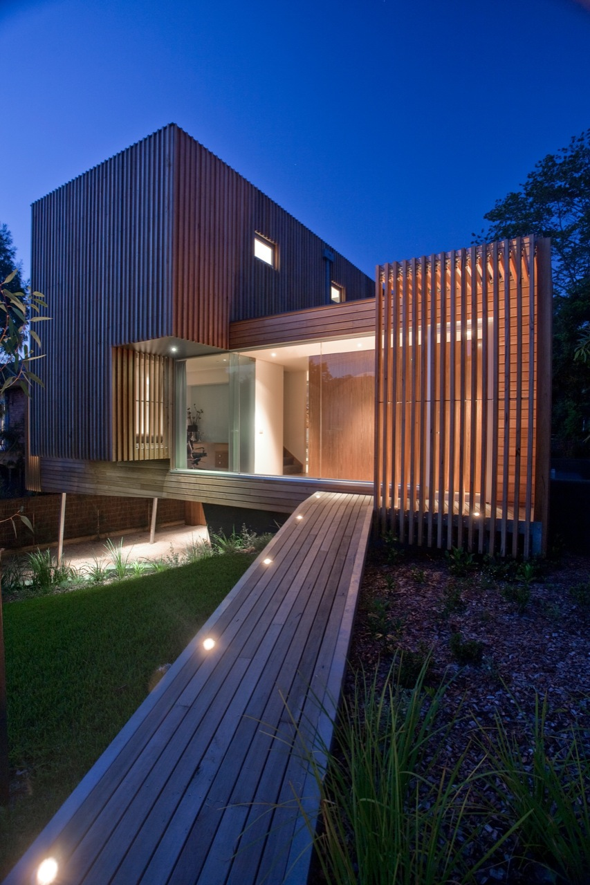 Wood Bridge, Lighting, Entrance, Kew House in Melbourne