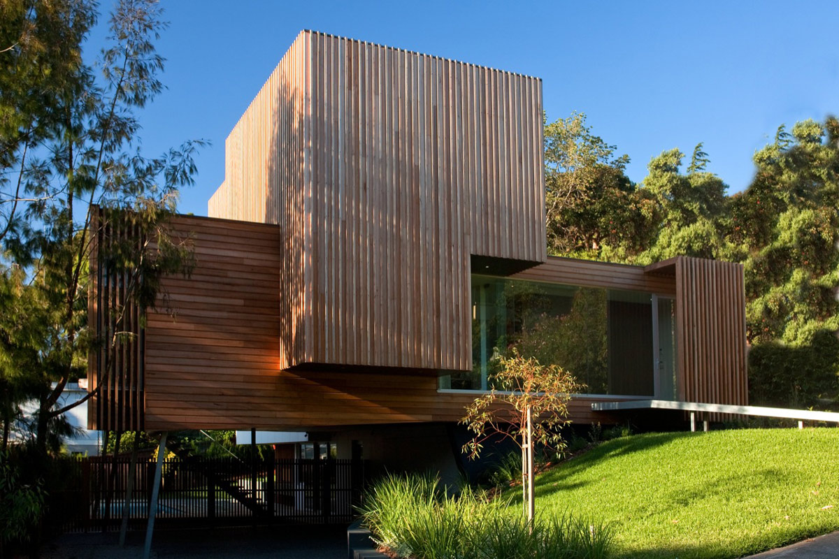 Wood Cladding, Kew House in Melbourne