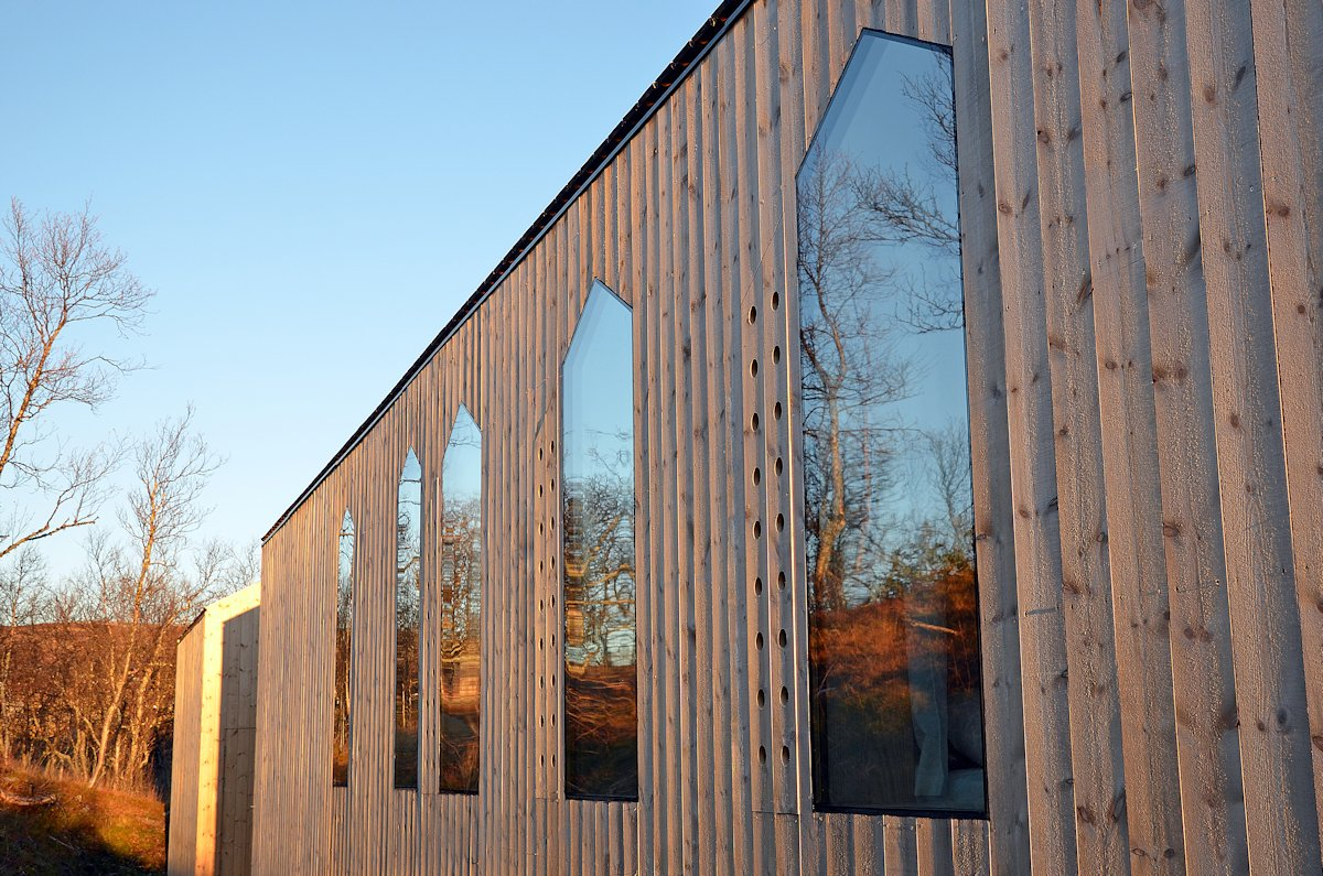 Wood Cladding, Windows, Holiday Lodge in Havsdalen, Norway