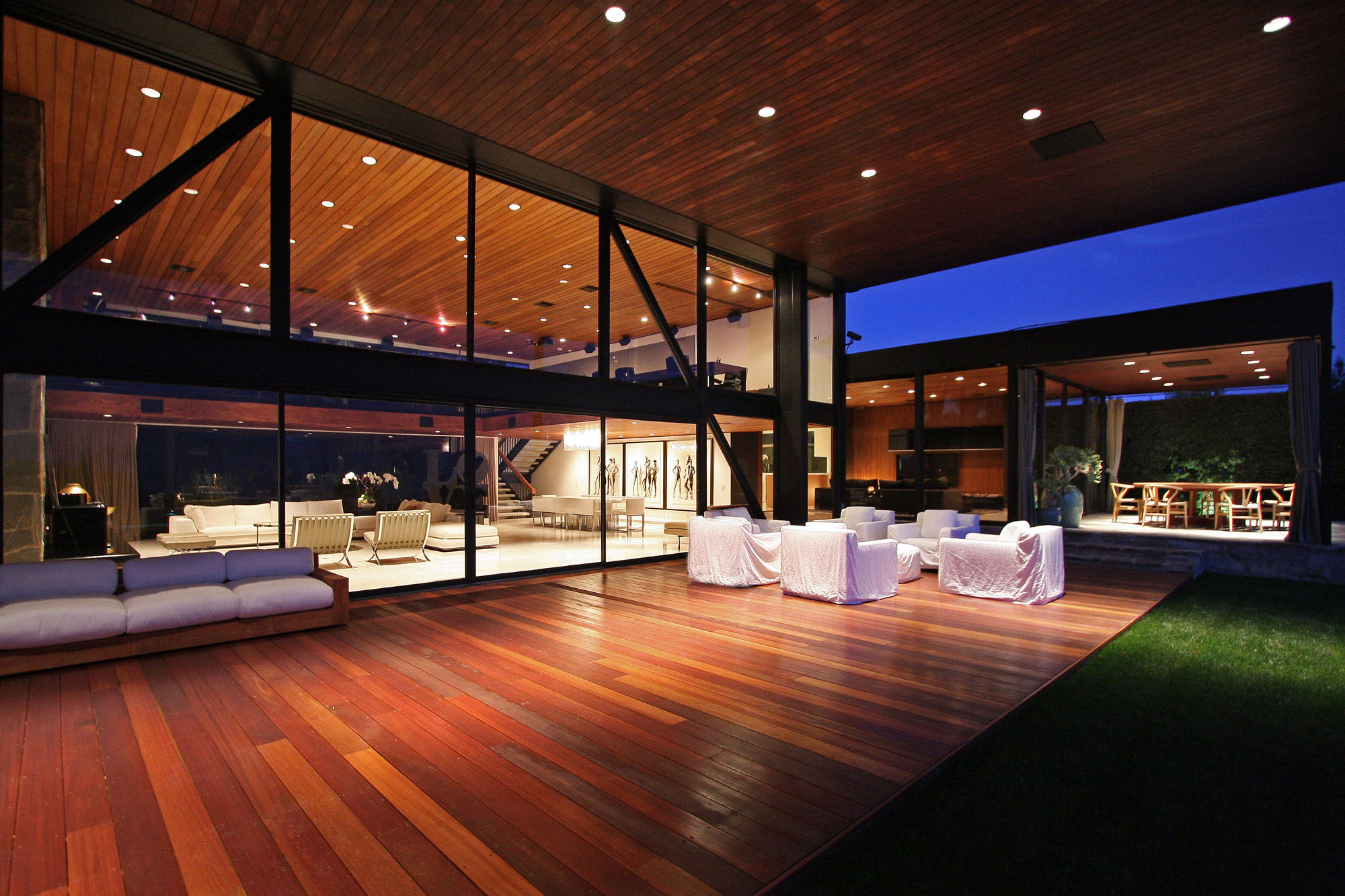 Wood Deck, Terrace, Revamped Interior in Beverly Hills