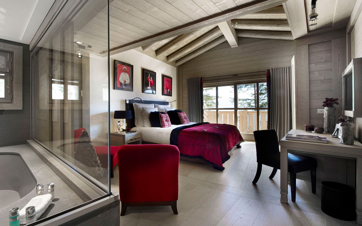 Bedroom, Bathroom, Ski Chalet in Courchevel 1850, France