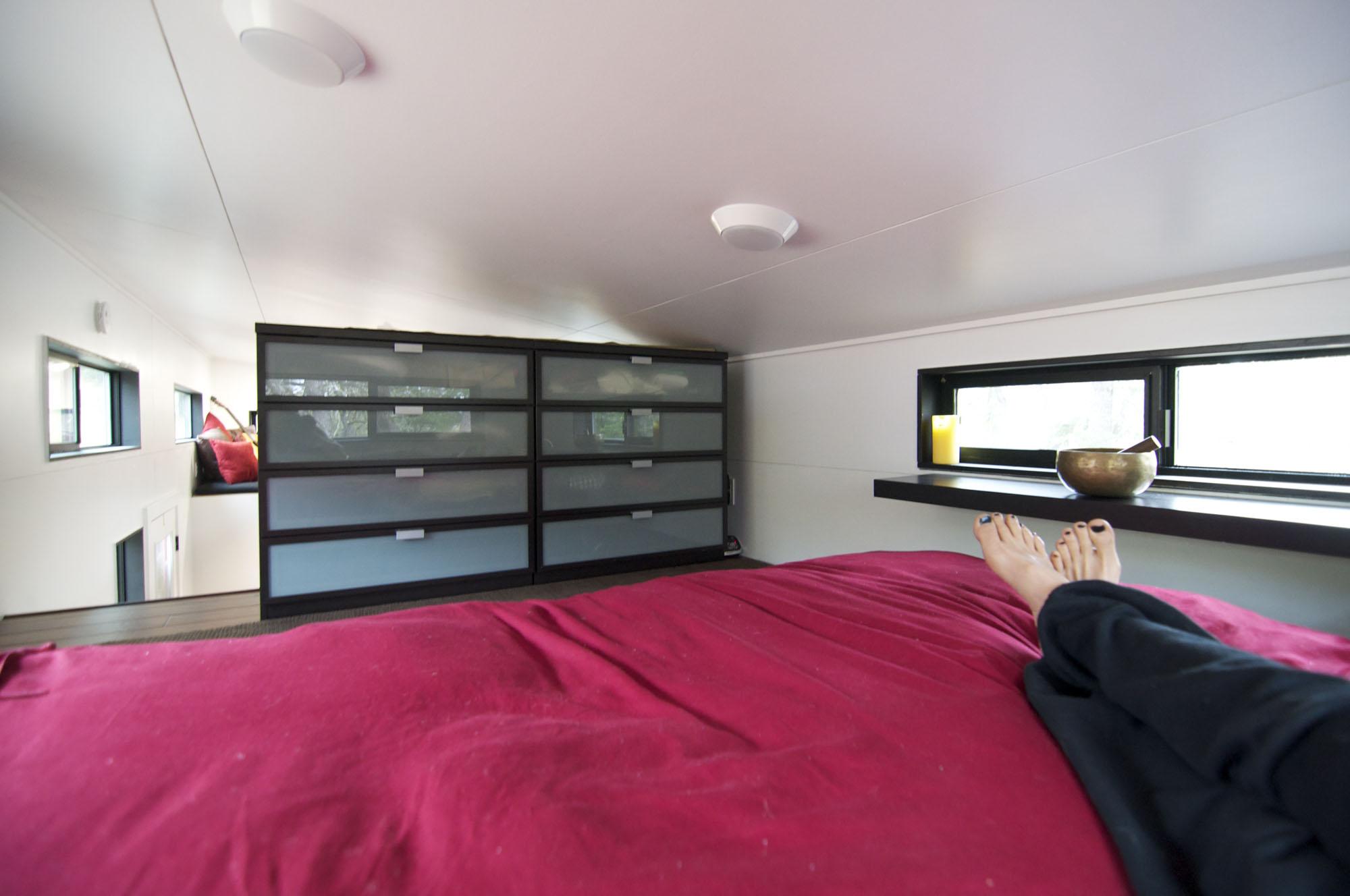 Bedroom, Storage, Tiny House on Wheels