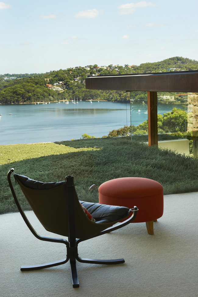 Chair, Stool, Bay Views, Family Home, Sydney's Middle Harbour