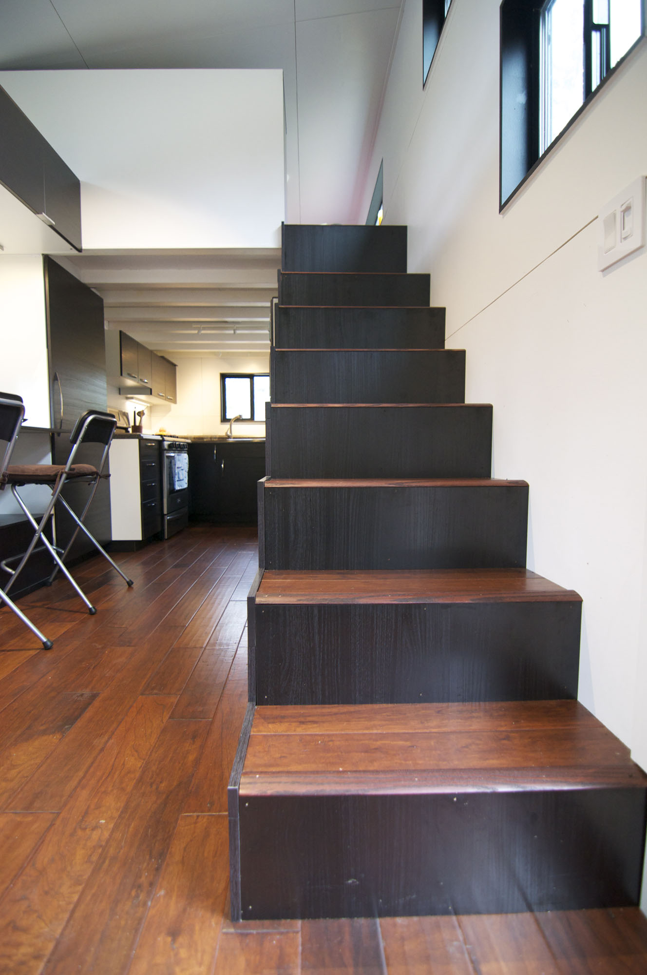 Compact Stairs, Tiny House on Wheels
