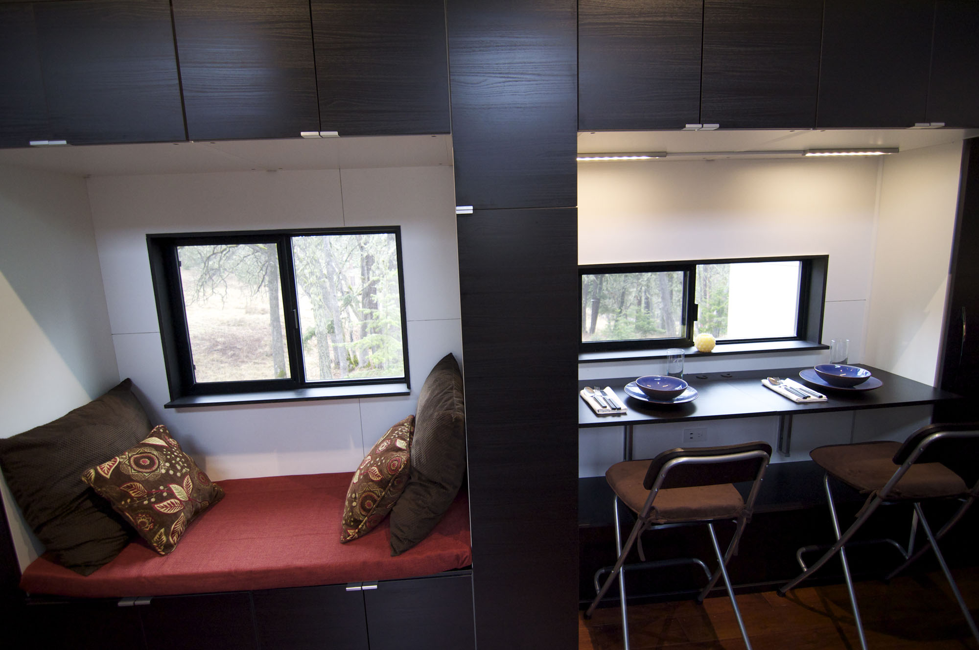 Dining, Living Space, Tiny House on Wheels