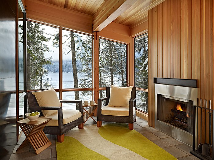Fireplace, Rug, Seating, Mountain Home Lake Wenatchee, Washington