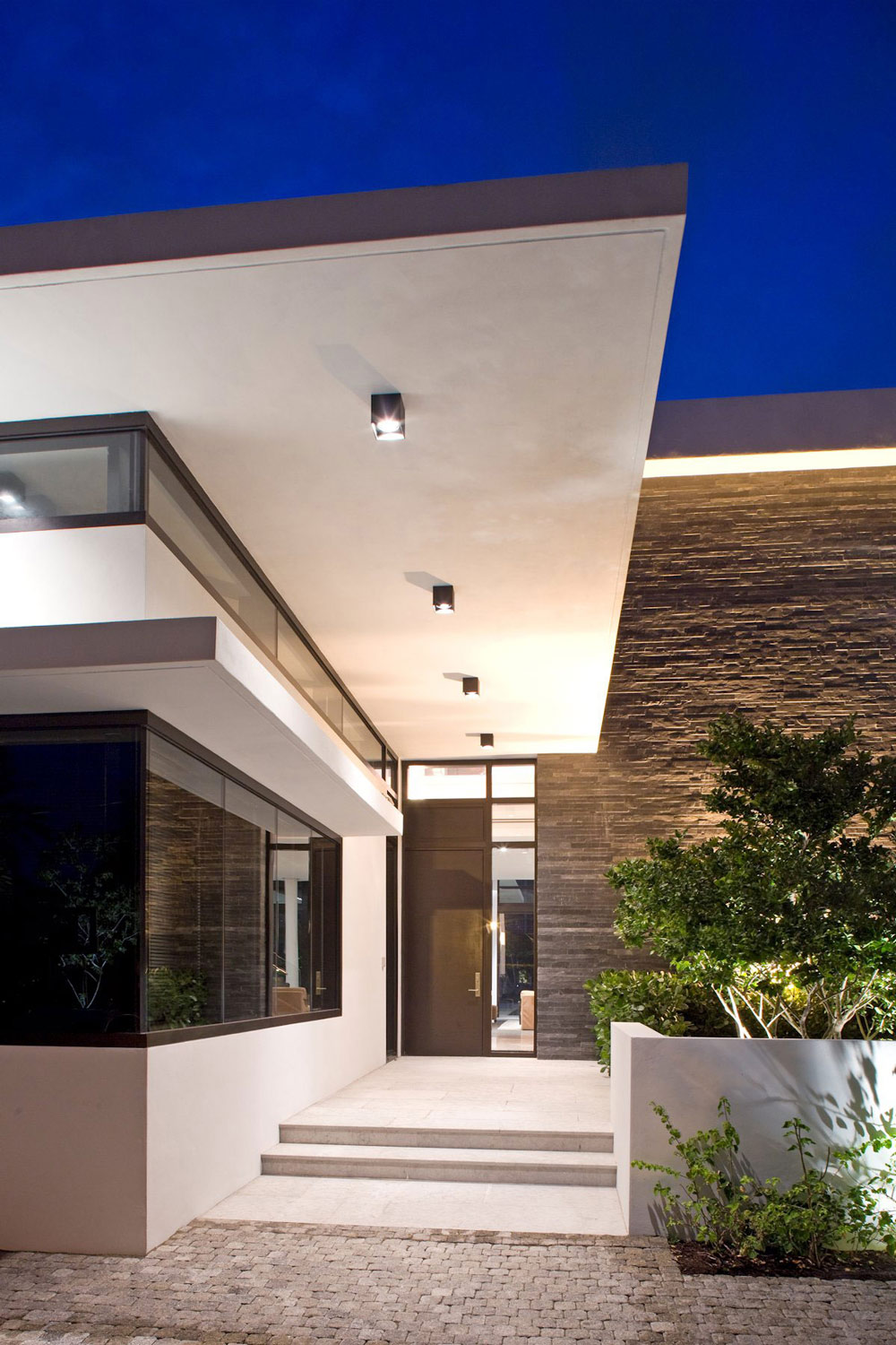 Front Door, Lighting, Modern Home in Golden Beach, Florida