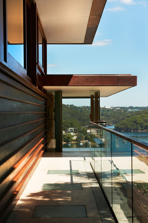 Glass Balustrading, Family Home, Sydney's Middle Harbour