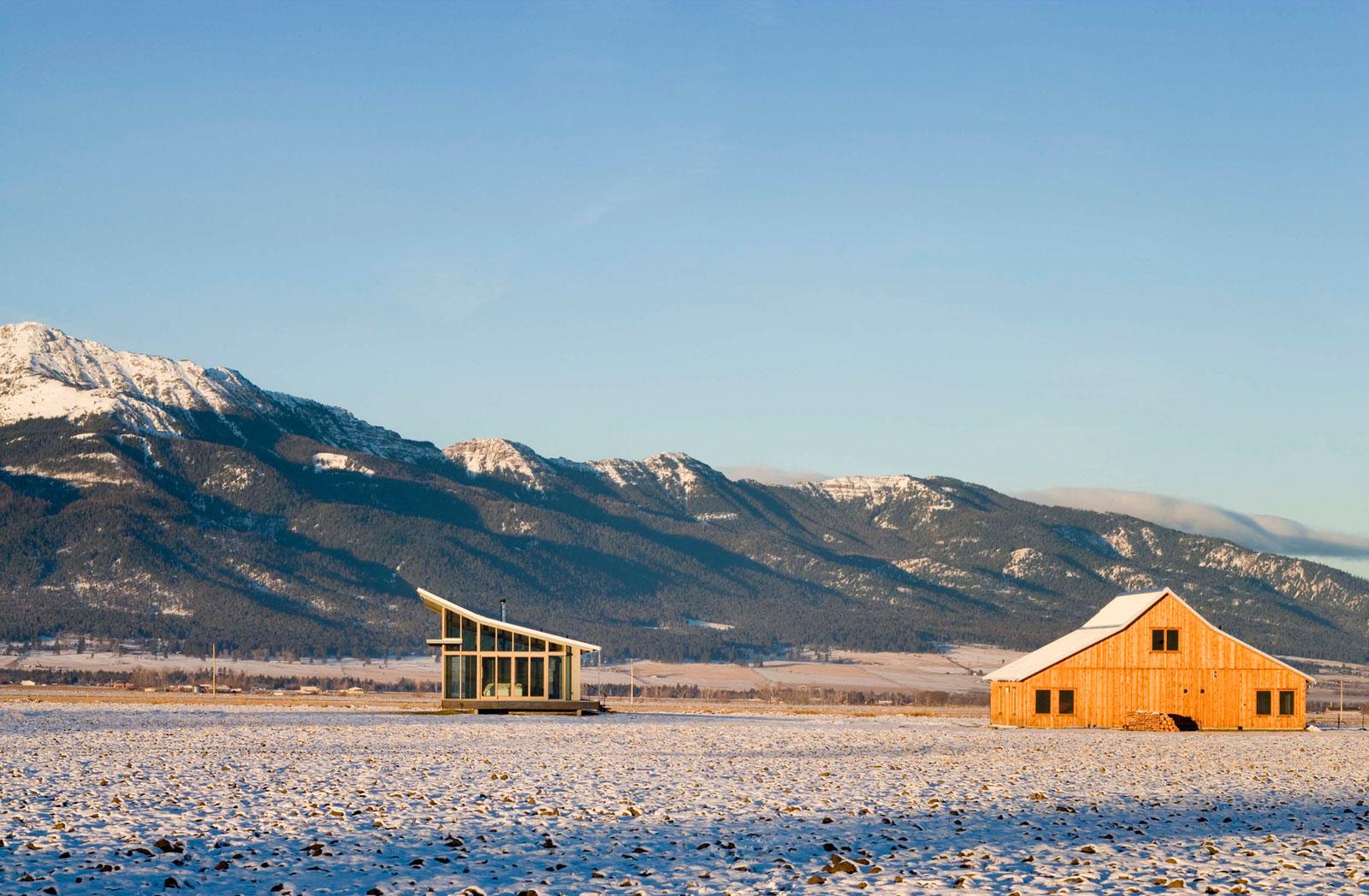 Glass Farmhouse in Northeast Oregon