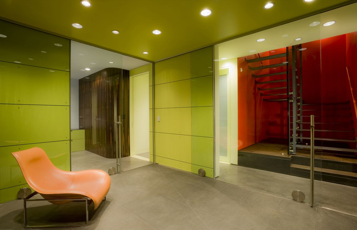 Green Room, Stairs, Hover House 3, Los Angeles, California