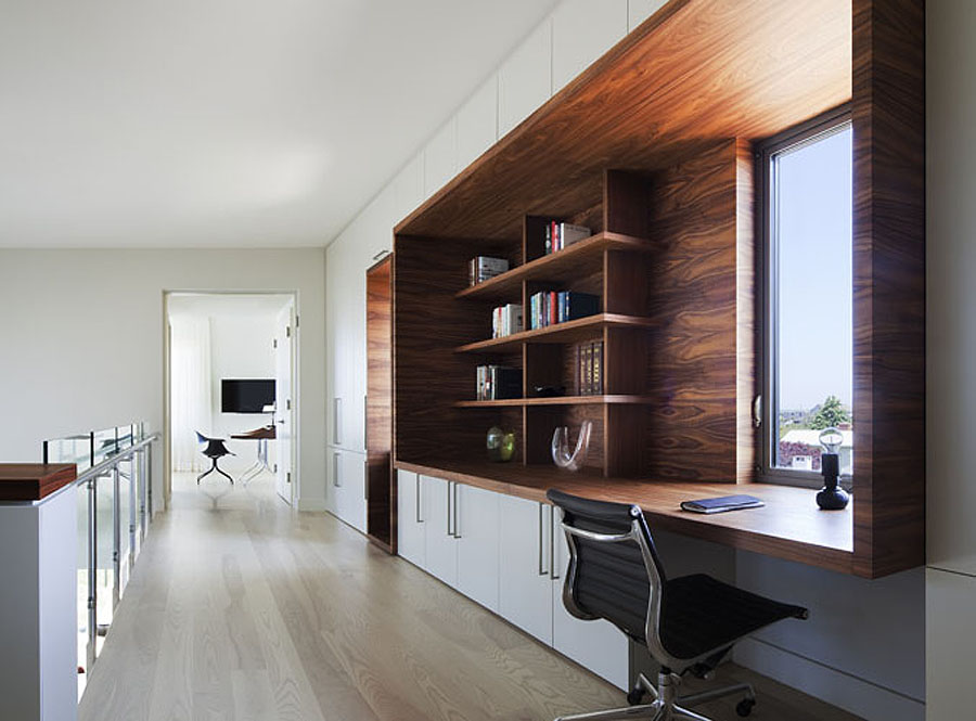 Home Office, Hallway, Bay House in Westhampton Beach, New York