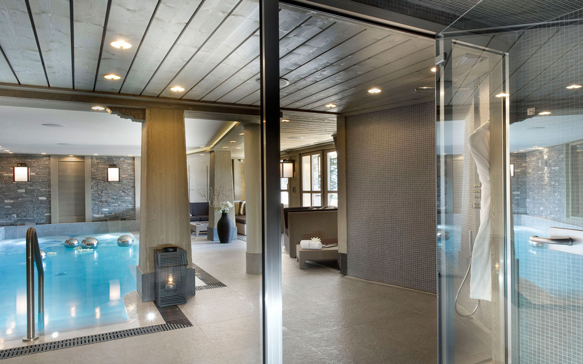 Indoor Pool, Ski Chalet in Courchevel 1850, France