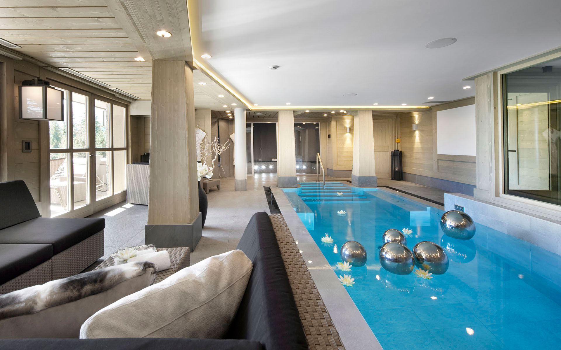 Indoor Swimming Pool, Luxury Ski Chalet in Courchevel 1850, France