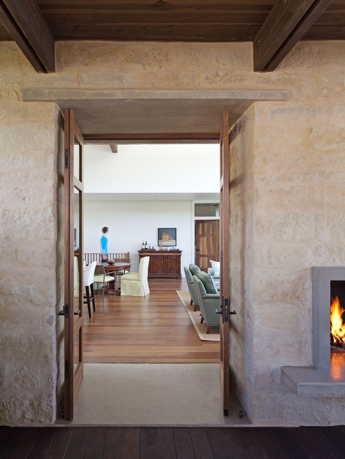 Internal Glass Doors, Weekend Retreat in Marble Falls, Texas