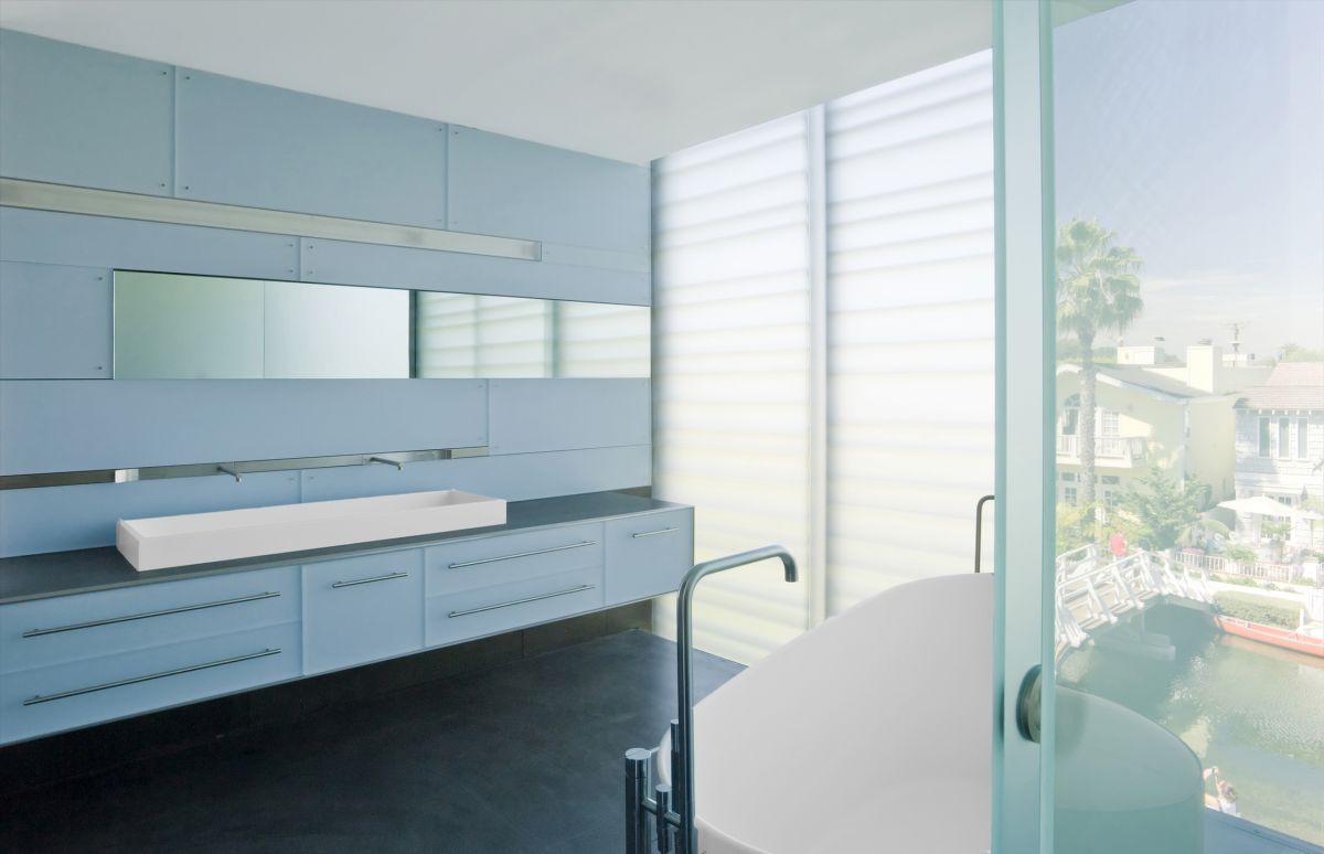 Mirror, Sinks, Bathroom, Hover House 3, Los Angeles, California