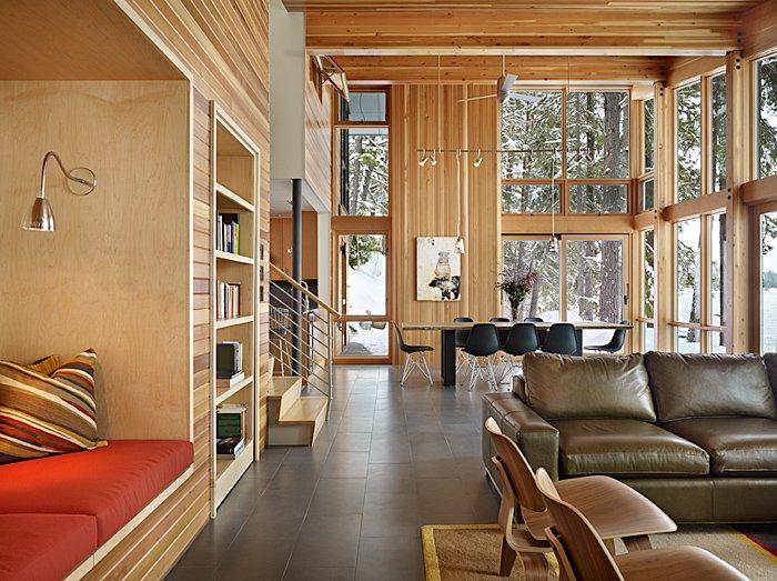 Open Plan Living, Dining Space, Mountain Home Lake Wenatchee, Washington