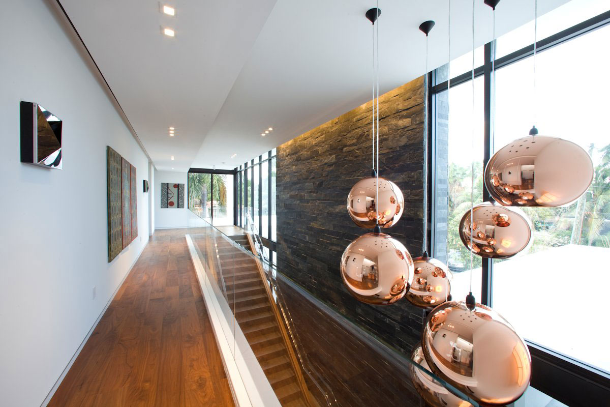 Pendant Lights, Modern Home in Golden Beach, Florida