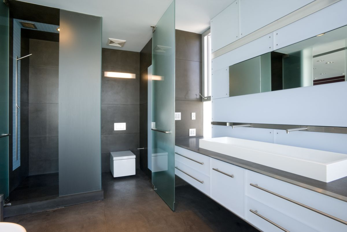 Sinks, Bathroom, Hover House 3, Los Angeles, California