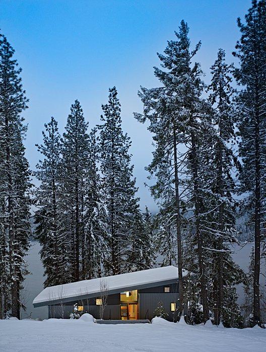 Snow, Trees, Mountain Home Lake Wenatchee, Washington