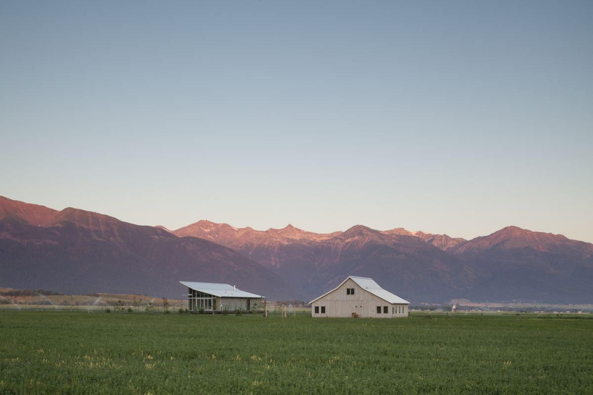 Summer, Wheat Fields, Glass Farmhouse in Northeast Oregon