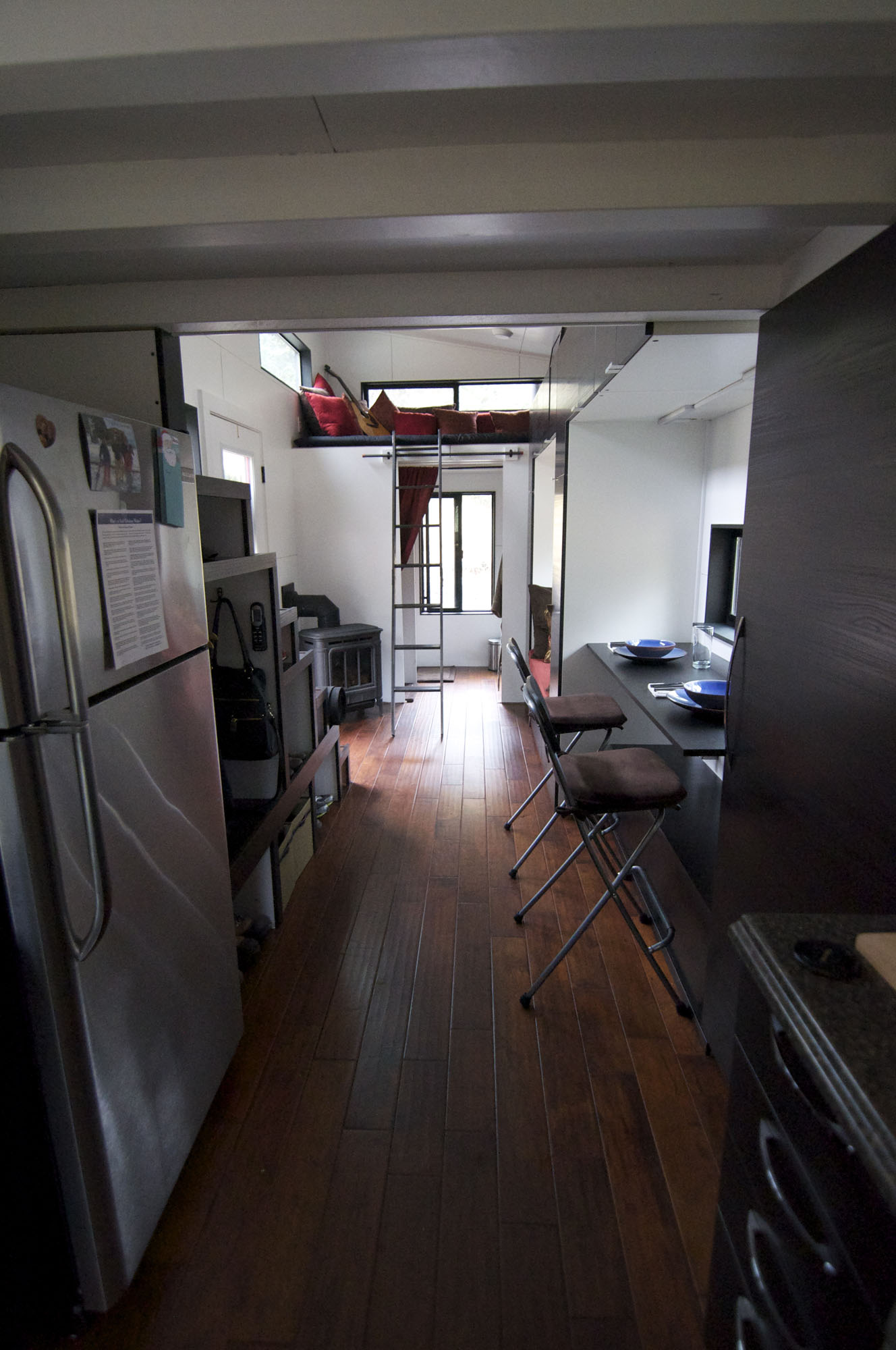 View from Kitchen, Tiny House on Wheels
