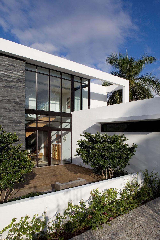 Wood Decking, Modern Home in Golden Beach, Florida