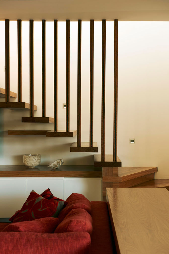 Wooden Stairs, Sofa, Family Home, Sydney's Middle Harbour