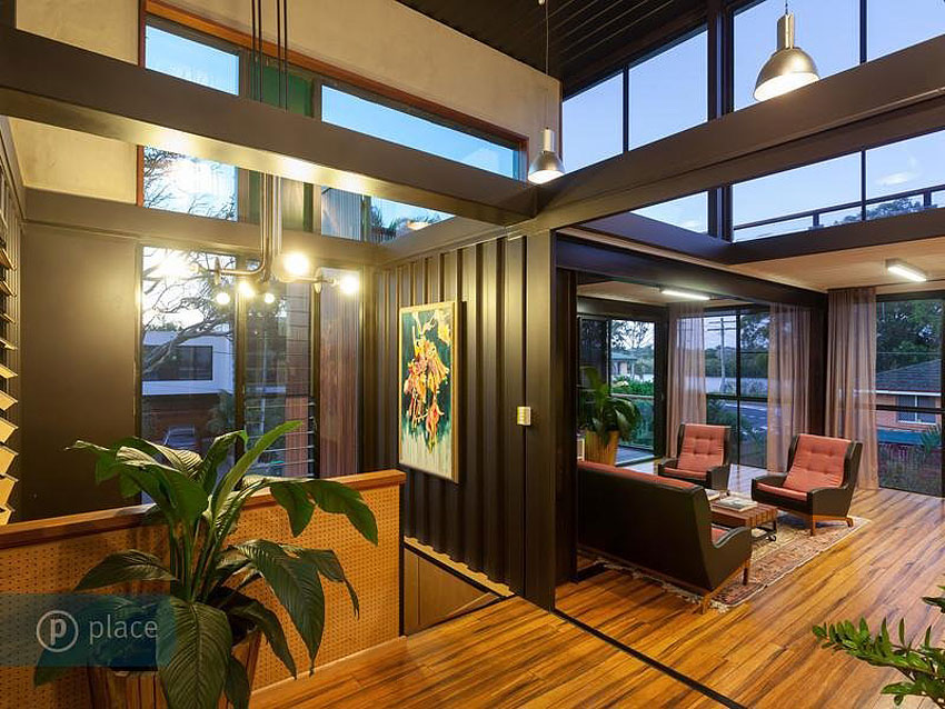Art Lighting Shipping Container Home In Brisbane Queensland