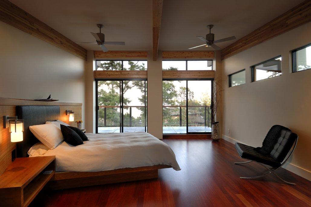 Bedroom, Balcony, Modern Home in Victoria, British Columbia