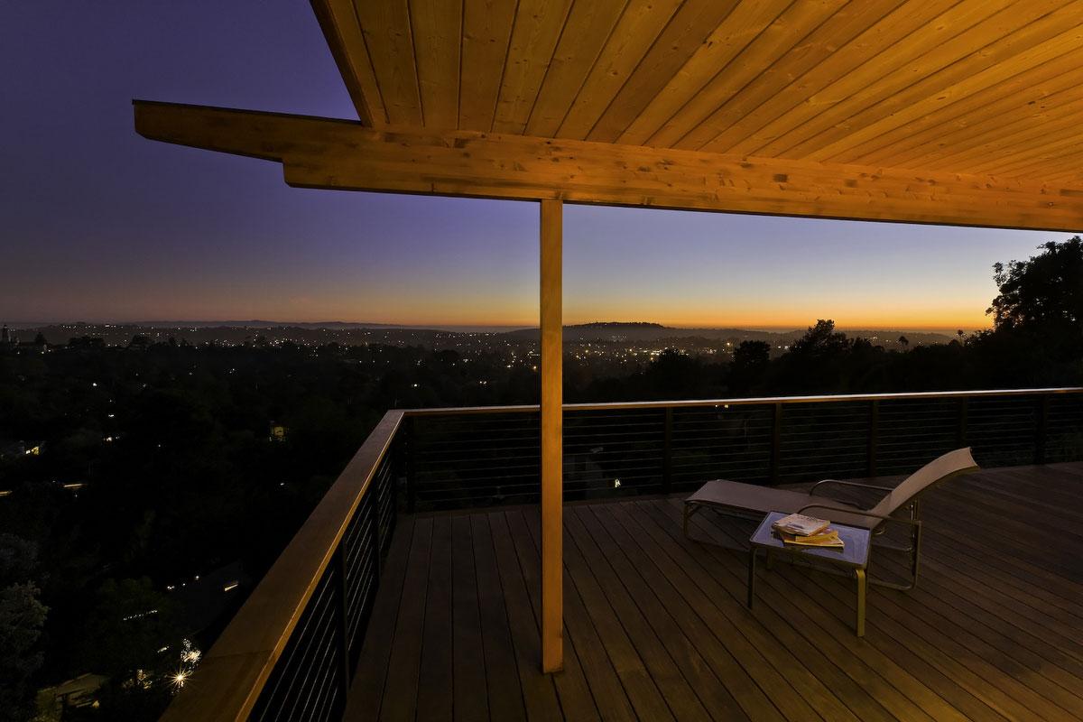 Balcony, Views, Mid-Century Modern Home in Santa Barbara, California