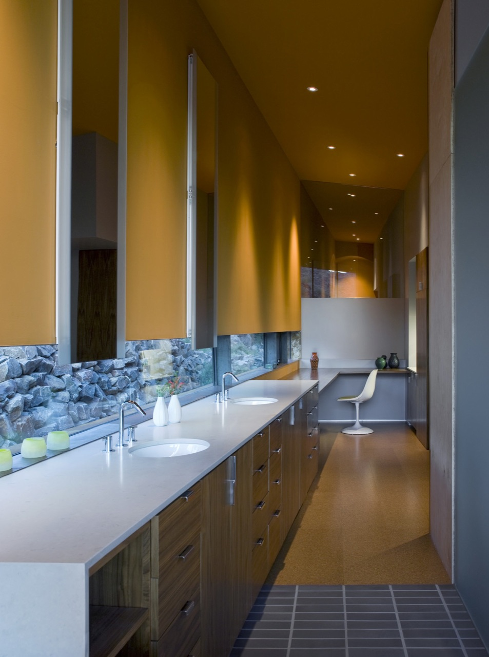 Bathroom, Double Sinks, Jarson Residence in Paradise Valley, Arizona