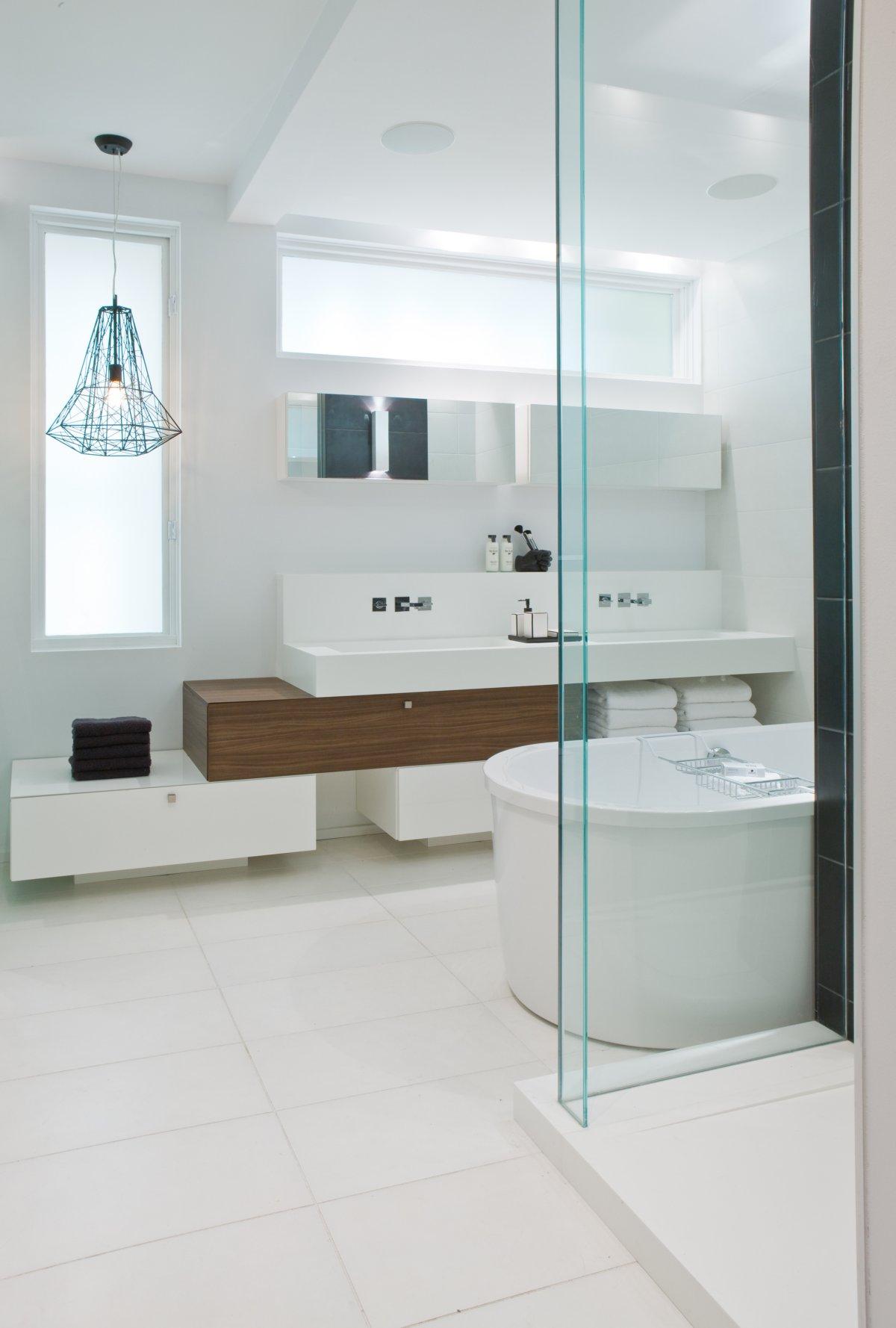 Bathroom, Glass Shower, Contemporary Townhome in Toronto, Canada