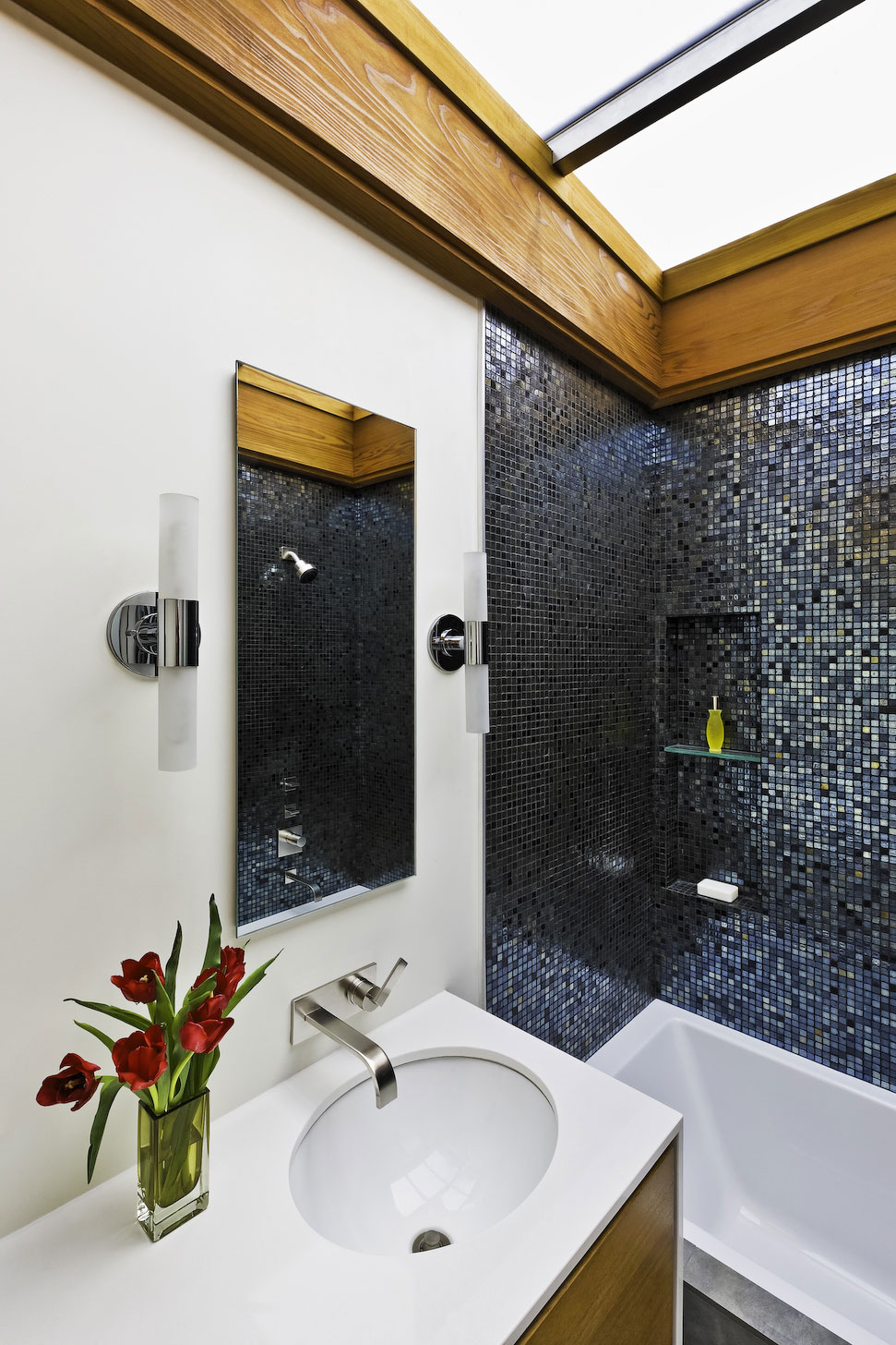Bathroom, Mid-Century Modern Home in Santa Barbara, California