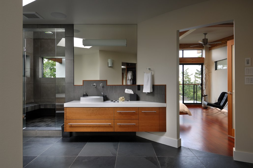 Bathroom modern home in victoria british columbia for Kitchen design victoria bc